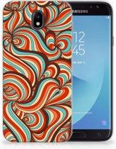 Samsung Galaxy J7 2017   J7 Pro TPU siliconen Hoesje Design Retro
