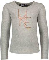 Like Flo Meisjes t-shirts & polos Like Flo Flo girls jersey ls tee LIKE FLO grijs 152