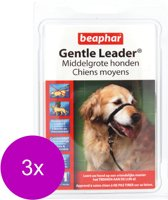 Beaphar Gentle Leader Zwart - Hondenopvoeding - 3 x Medium Middel