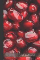 red seeds notes: small lined Pomegranate Notebook / Travel Journal to write in (6'' x 9'') 120 pages