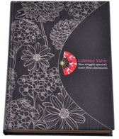 Notitieboekje met bloemen – Crème/Zwart