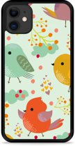 iPhone 11 Hardcase hoesje Cute Birds