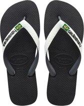 Havaianas Brasil Flip Flops Logo, Unisexe, Adultes - Brun - 35
