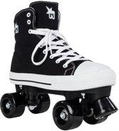 Rookie Rolschaatsen Canvas - Kinderen - Zwart - Maat 35