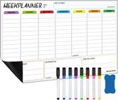 RX Goods® Premium Magnetische Weekplanner Whiteboard Set met 9 Accessoires – Familieplanner