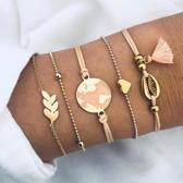 Set Armbanden World | 5 - delig | Goudkleurig | 18 cm