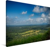 Uitzicht vanaf de Sigiriya rots Canvas 140x90 cm - Foto print op Canvas schilderij (Wanddecoratie woonkamer / slaapkamer)