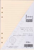 Aanvulling Lijn 120g/m²  Cremè Notitiepapier voor A5 Succes, Filofax of Kalpa Organizers 100 Pag