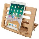 AWEMOZ® Boekenstandaard - Bamboe Hout - Tablethouder - Kookboekstandaard - Laptopstandaard - Telefoonhouder