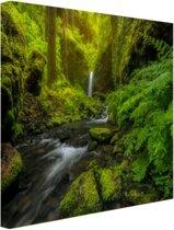 FotoCadeau.nl - Prachtig plaatje jungle Canvas 80x60 cm - Foto print op Canvas schilderij (Wanddecoratie)