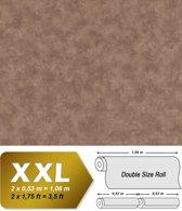 Uni kleuren behang EDEM 9031-16 vliesbehang gestempeld in spachtelputz look glanzend bruin 10,65 m2