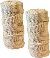 Baktouw, Slagerstouw, Decoratietouw, 2 stuks (katoen, 500 gram, ca 400 metel per rol, wit