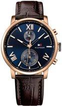 Tommy Hilfiger TH1791308 horloge heren - bruin - edelstaal PVD ros�