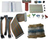 GPIO starter kit voor Raspberry Pi: breadboard, cobbler, LEDs, weerstanden en meer