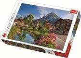 Alpen in de zomer, 2000 stukjes Puzzel