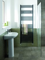 Eastbrook Wendover antraciet straight multirail badkamer verwarming 600 x 400mm (afgebeeld de 1800 x 500mm)