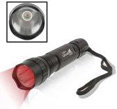 UltraFire WF-501B Rood licht LED-zaklamp, CREE LED, 1 modus, 150LM, met riem (zwart)