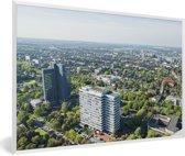 Foto in lijst - Luchtfoto van Dortmund in Duitsland fotolijst wit 60x40 cm - Poster in lijst (Wanddecoratie woonkamer / slaapkamer)