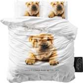Sleeptime Beauty Sleep - Dekbedovertrekset - Lits-Jumeaux - 240x200/220 + 2 kussenslopen 60x70 - Wit