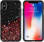 BackCover Spark Glitter TPU + PC voor Apple iPhone Xs Max Rood
