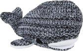 Baby's Only knuffel Walvis River zwart/wit