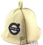 "saunamuts ""Automotive"" met logo Volvo polyester vilt A-231"