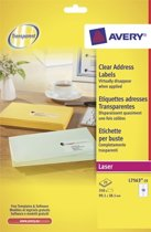 Avery Clear Address Label - Laser - L7563