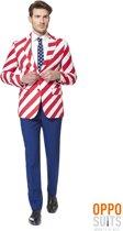 OppoSuits United Stripes - Mannen Zomer Kostuum - Gekleurd - Feest - Maat 62