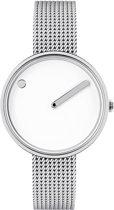Picto 43363-0812 horloge dames - zilver - edelstaal