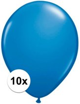 Qualatex ballonnen donkerblauw 10 stuks