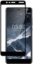 Nokia 5.1 (2018) - Full Cover Screenprotector - Zwart