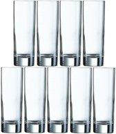 9x Longdrinkglazen 220 ml - 22 cl - Longdrink glazen - Water/sapglazen - Longdrink glazen van glas
