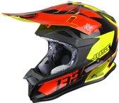 Just1 Crosshelm J32 Pro Kick Black/Red/Yellow-L