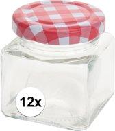 12x Inmaak/weckpotten 75 ml met draaideksel