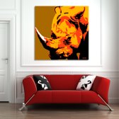 Rhino Canvas Art 80/80cm