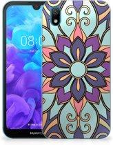 Huawei Y5 (2019) TPU Case Purple Flower