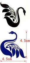 Water overdraagbare Tijdelijke Tattoo: Zwanen