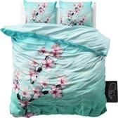 Sleeptime Cherry Blossom - Dekbedovertrekset - Lits-Jumeaux - 240x200/220 + 2 kussenslopen 60x70 - Turquoise