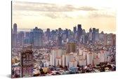Uitzicht over de stad Manila Aluminium 180x120 cm - Foto print op Aluminium (metaal wanddecoratie) XXL / Groot formaat!