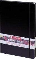 Talens Art Creation schetsboek - zwart - gebonden - wit papier