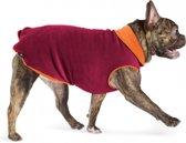 GoldPaw - Stretch Dubbel Fleece Pullover hondenjas - Oranje/Rood - maat 22 - grote maten