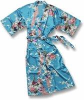 Chinese Kimono Pauw Turquoise