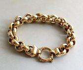 Geel gouden jasseron armband