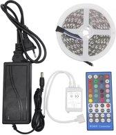 RGBW LED Strip 5 meter 5050 | 300 LED's Warm Wit & Kleur Dimbaar | 5 Pins RGBWW LED Strip 12V met 44 toetsen Afstandsbediening IP20