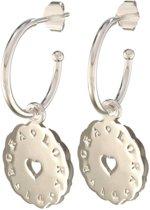 Lora di Lora Oorbellen 22 Lora di Lora. Unieke oorbellen met bedeltjes 925 Sterling Zilver 1.5 cm