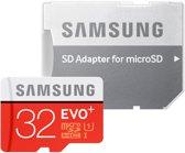 Samsung Evo+ 32 GB Micro SD class 10 met adapter