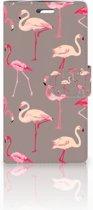 LG K10 2015 Uniek Boekhoesje Flamingo