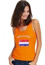 Oranje dames tanktop vlag Holland S