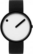 Picto PT43379-1020 Horloge - Staal - Zwart - 40 mm