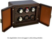 Scatola del Tempo Watchwinder Rotor 6RT OS Dark Brown